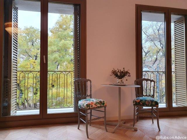 Brand-new, cozy 4 rooms apartment with park view